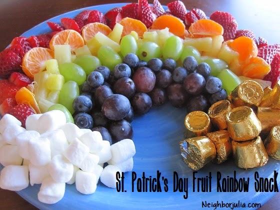 Rainbow food plate