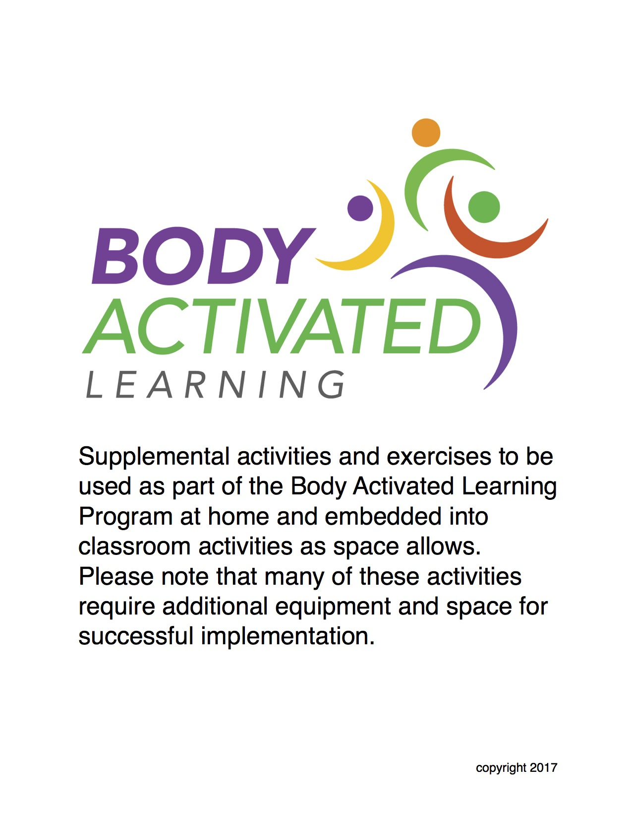 Body Activated Learning Activity Expansion Pack - Digital Download ...